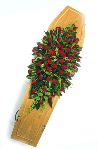 Red Rose Double Ended Coffin Spray