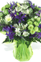 Purple and Green Mixed Bouquet