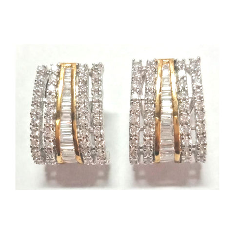 Simulated diamond stud earrings, Studs - Ratnali Jewels