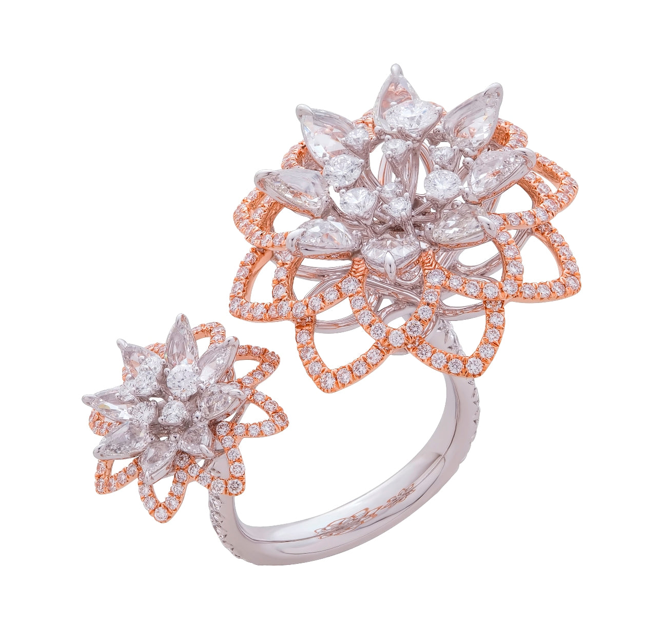 Simulated diamond statement cocktail ring, Rings - Ratnali Jewels