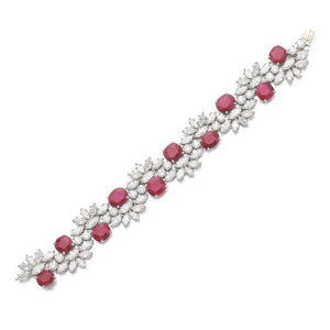 Ruhi ruby and diamond bracelet