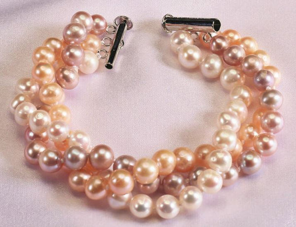 Three Strand Pearl Bracelet, Bracelet - Ratnali Jewels