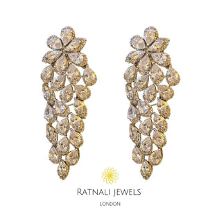 designer replica faux diamond earrings