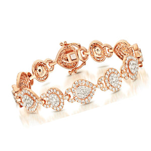Simulated CZ diamond bracelet, Bracelet - Ratnali Jewels