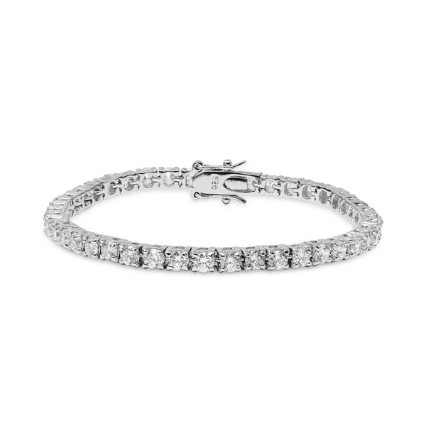 Simulated CZ diamond tennis bracelet, Bracelet - Ratnali Jewels