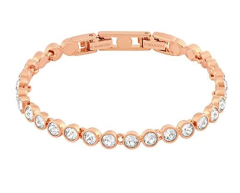 Swarovski Tennis Bracelet, White, Rose gold plating. Shop on the amazon link