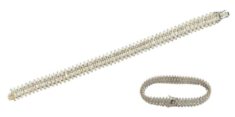 Simulated diamond tennis bracelet