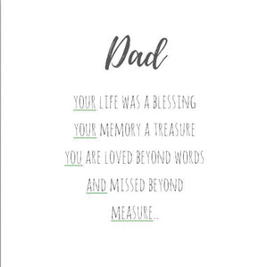 Dad - you're your life was a blessing