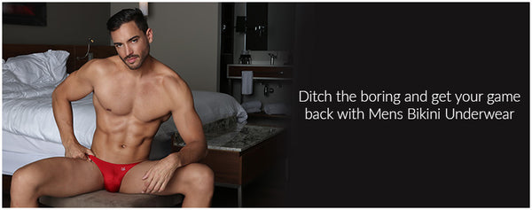 Ditch the boring and get your game back with Mens Bikini Underwear