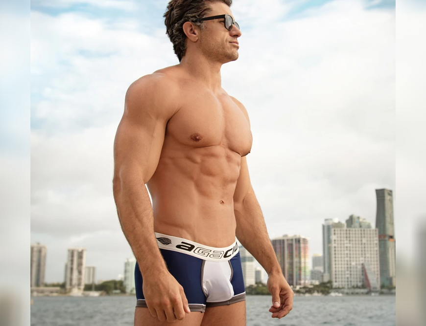 Update your closet with Agacio Stud Brief underwear for men