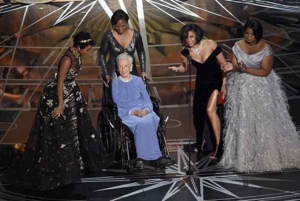 Hidden Figure's real-life star Katherine Johnson stops by