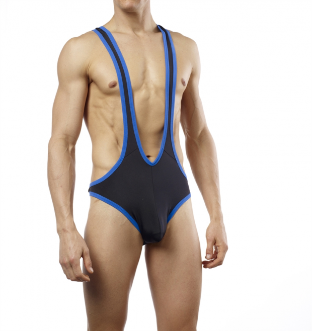 Good Devil G-string Singlet Black/Blue