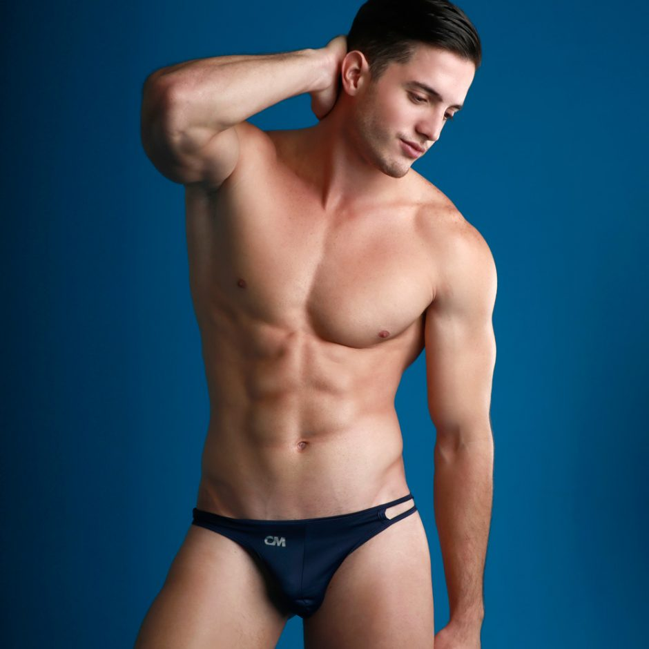 COVER MALE CMK030 MICRO THONG NAVY