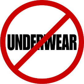 No underwear- under water