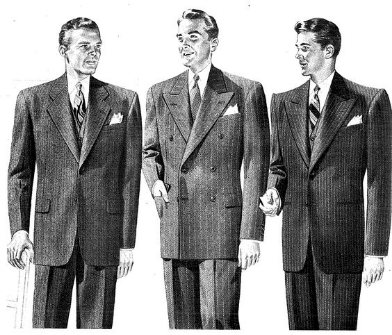 Say no to broad-shouldered suit