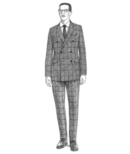 Opt for slim fit suit made with appropriate fabric