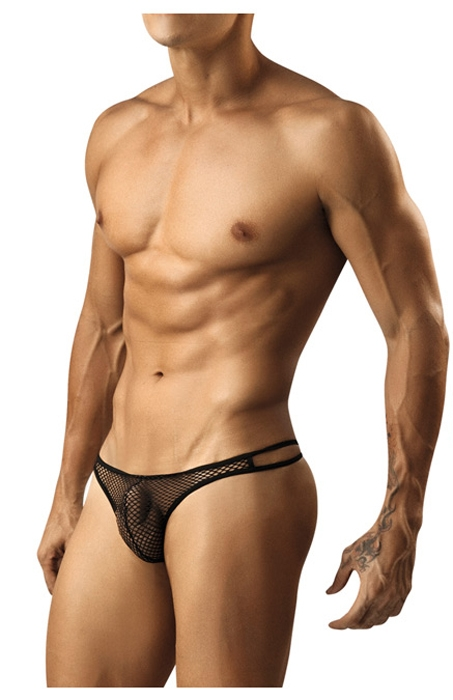 Pikante Black Mesh G string | Men's Underwear | Mensuas