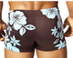 Vuthy 335 Hibiscus Swimsuit Square Blue/Brown