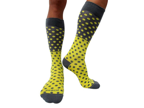 Agacio AG090004 Executive Dots Sock Yellow/Grey