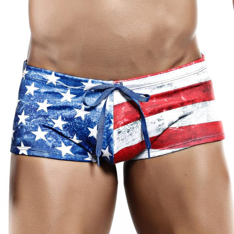 Cover Male CMG010 USA Flag Boxer Trunk