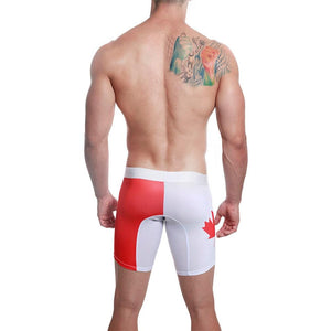 Mensuas MN0841 Canada Flag Long Boxer