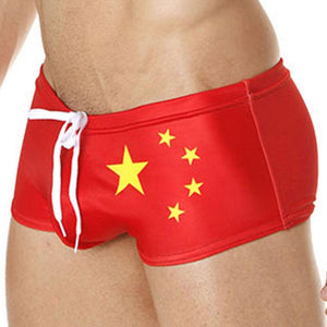 Mensuas MN8018 China Flag Swim Boxer