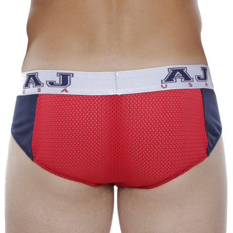 American Jock AJ8757 Bikini Brief White/RoyalBlue