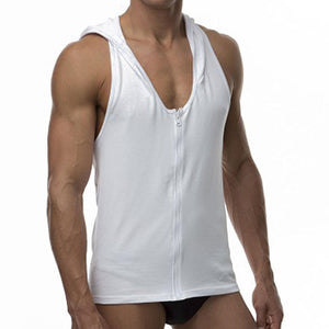 Cover Male CM339  Tank Hoodie