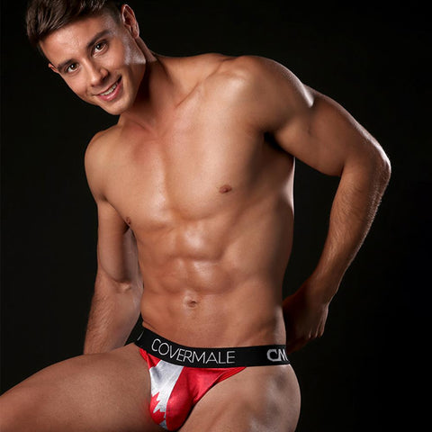 Cover Male CMK023 CANADA Flag Slip Thong
