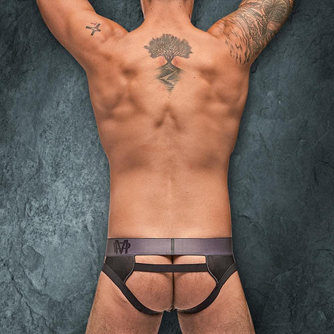 Male Power 395251 Checked Mate Cutout Jock