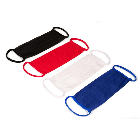 Mask Protect 3290 Cotton Mask 4 Pack Black White Red Royal Blue