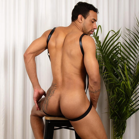 Miami Jock MJV020 Suspender Body Suit