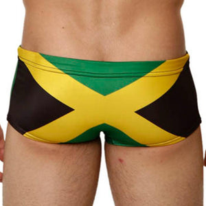Mensuas MN8013 Jamaica Flag Swim Trunk