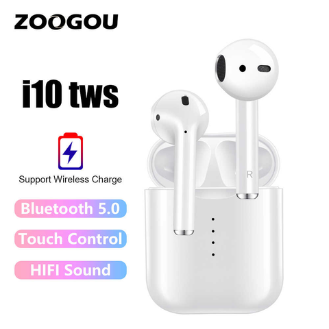i10 tws i10s tws wireless charge support Earphones Wireless