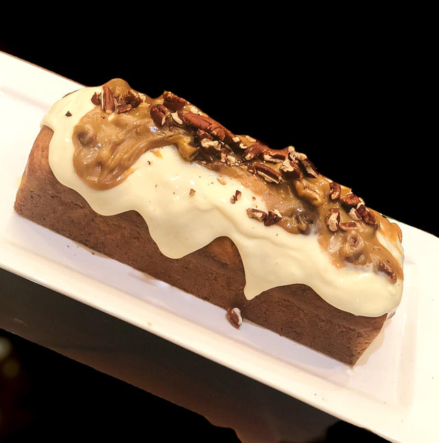 Banana Loaf with Cheese and Caramel Frosting