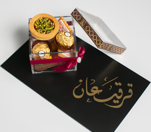 Garangao Acrylic Box with Black Board