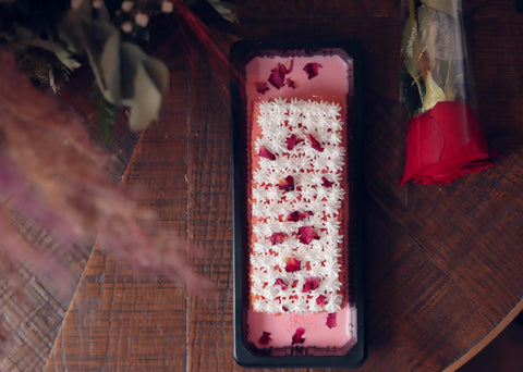 Sliced Dolce Rose Cake