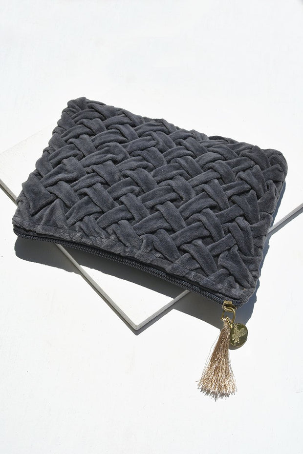 Woven Midnight Pouch