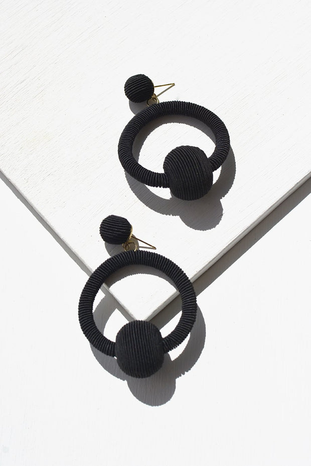 The Charcoal Perch Earrings