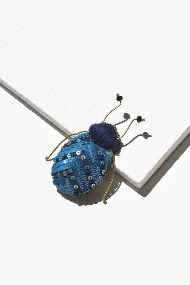 Night Fever Beetle Brooch