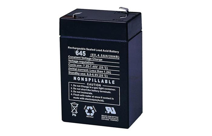 BATTERY 6V 4.5 AH SLA