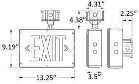Class 1 Division 2 Hazardous Location Exit Sign
