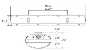 T8 Fluorescent Emergency Light Dimensions
