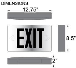 Cast Aluminum Exit Sign Dimensions