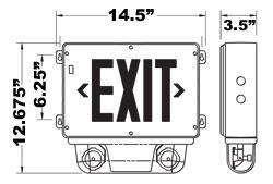 Class 1 Division 2 Hazardous Location Exit Signs Emergency Lights Combo