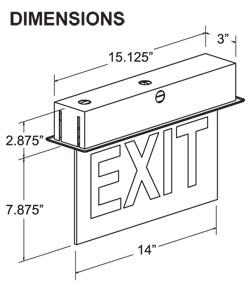 Edge Lit Exit Sign Dimensions