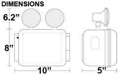 Wet Location Emergency Light Dimensions