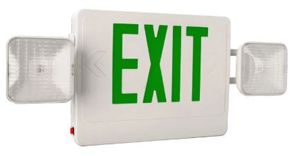 Exit Sign Emergency Light Combo - Red or Green Letters
