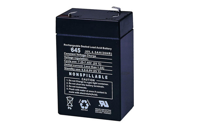6 volt 4.5 amp Emergency Light Battery - Sealed Lead Acid