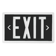 Exit Sign - Self Luminous Tritium - Black - 10 or 20 Year - Single / Double Sided